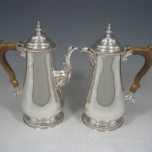 Antique Silver Cafe-Au-Lait Pots