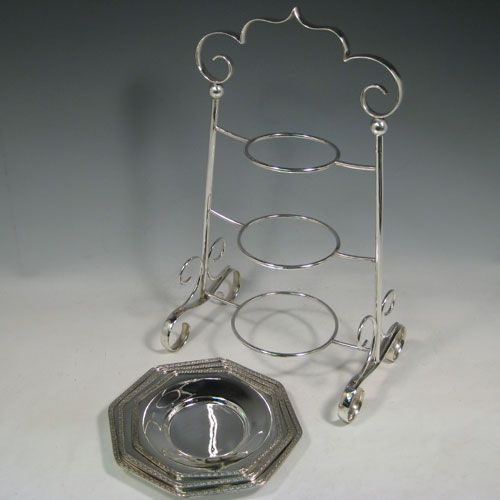 Cake Stands In Antique Sterling Silver Bryan Douglas
