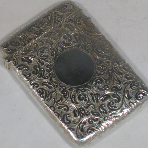 Card Cases In Antique Sterling Silver Bryan Douglas