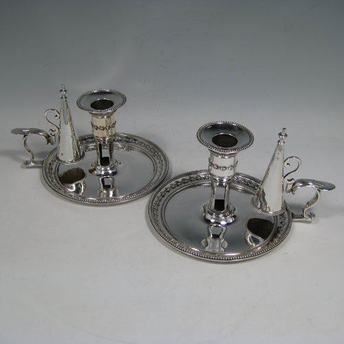 Antique Silver Chambersticks