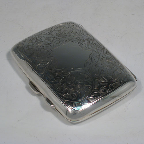 482c01860363 Cigar and Cigarette Cases in Antique Sterling Silver Bryan Douglas ...