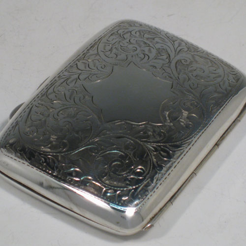 dece27756c48 Cigar cigarello and cigarette cases - Antique silver cigarette and ...