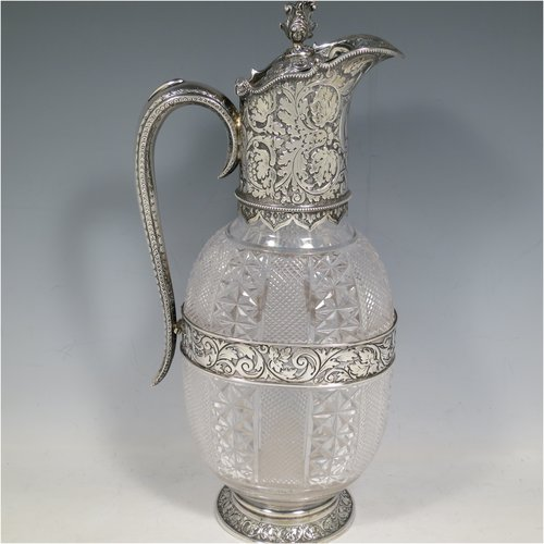 Antique Silver Claret Jugs
