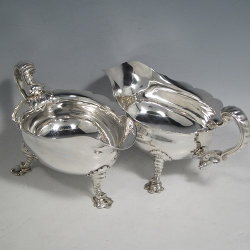 Antique Silver Cream Boats