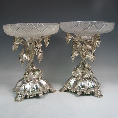 Antique Silver Compote Stands