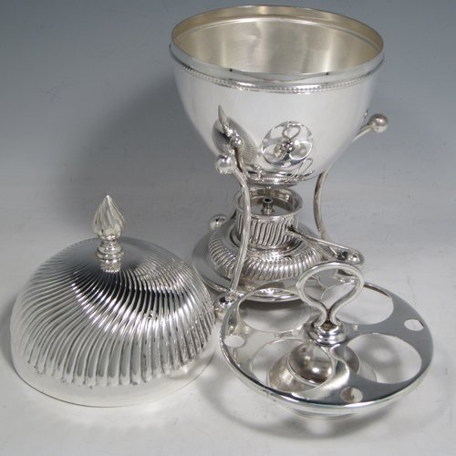 Egg Coddlers In Antique Sterling Silver Bryan Douglas