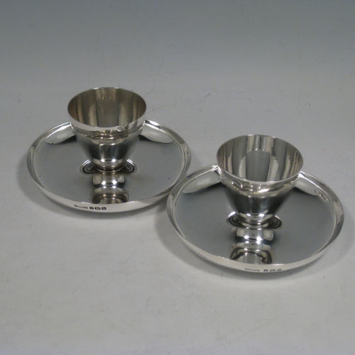 Antique Silver Egg Cruets