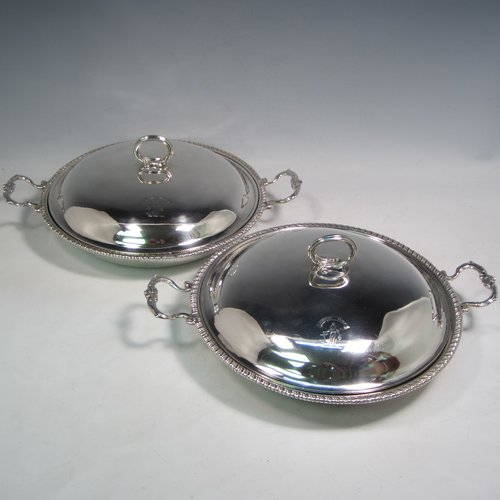 Antique Silver Entree Dishes