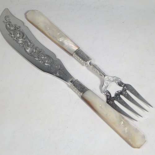 Antique Silver Fish Servers