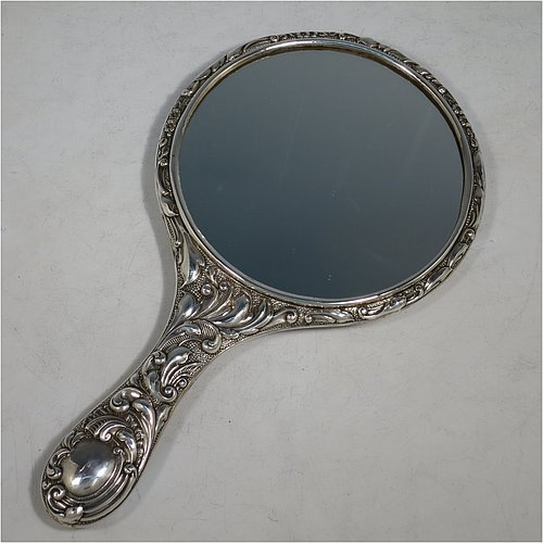 Hand Mirrors In Antique Sterling Silver Bryan Douglas