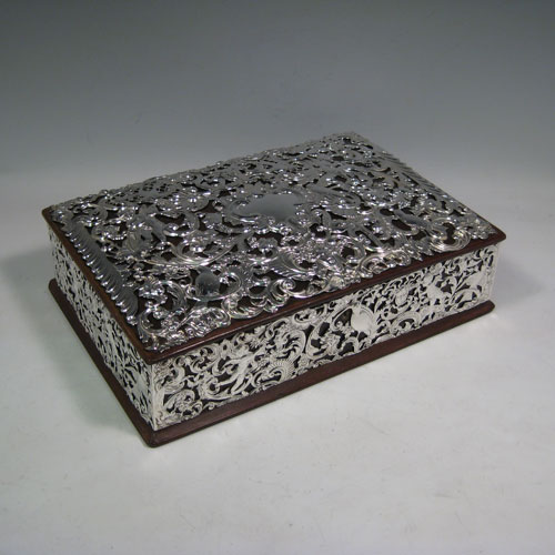 Jewellery boxes in Antique Sterling Silver Bryan Douglas Antique