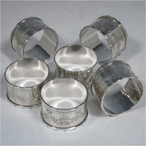 napkin rings in antique sterling silver bryan douglas