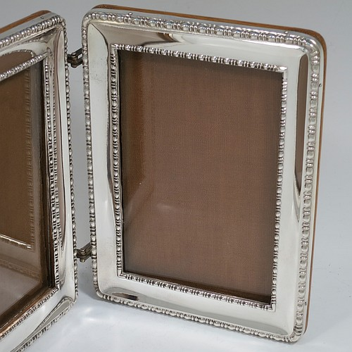 4f950751255c ... A rare and very handsome Antique Sterling Silver double hinged portrait  photograph frame