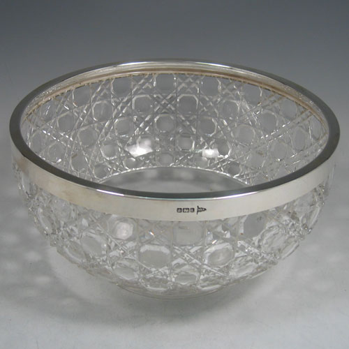 Salad Bowls And Servers In Antique Sterling Silver Bryan