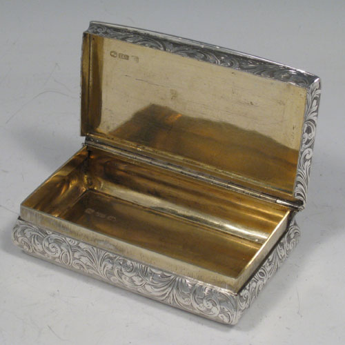 Snuff Boxes In Antique Sterling Silver Bryan Douglas