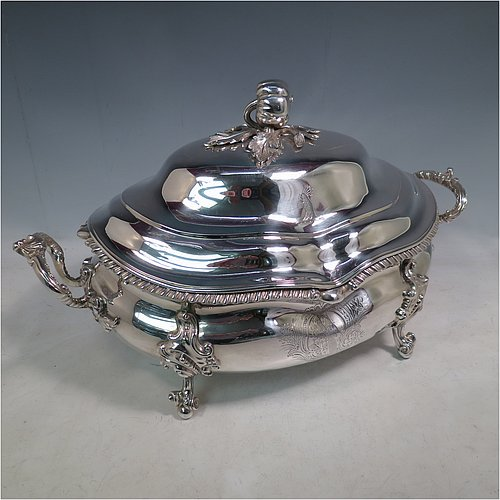 Antique Silver Soup Tureens