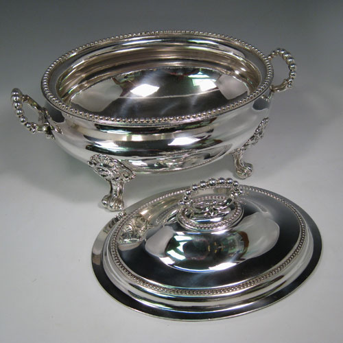 Soup tureens in antique sterling silver bryan douglas for Silverleaf com