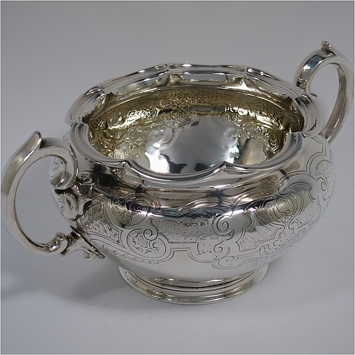 Sugar Bowls In Antique Sterling Silver Bryan Douglas